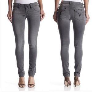 HUDSON Washed Black Grey Ankle Skinny Jeans Sz 28